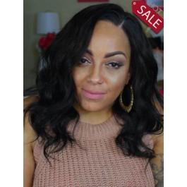 Long Wavy Human Hair African American Wig