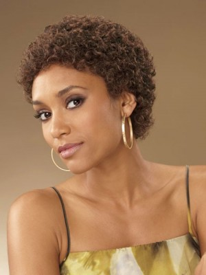 Curly Short Capless Synthetic Wig