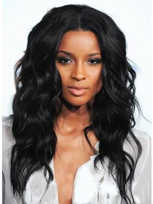 Black Long Wavy Synthetic Wig