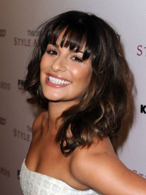 Outstanding Lea Michele Hairstyle Shoulder Length Capless Wig Hair Wigs Online Natural Hairstyles Runnerswayorg