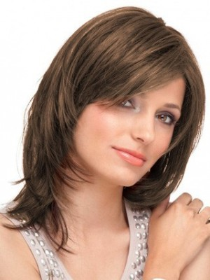 Straight Lace Front Mid-Length Remy Hair Wig