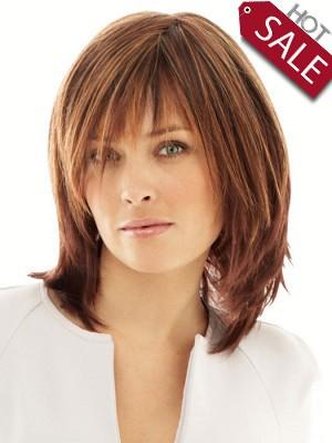 Discount Human Hair Medium Length Wig