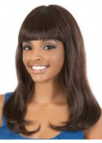Long Wavy Synthetic Wig With Full Bang