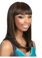 Sleek Cleopatra Style Wig With Bold Bangs