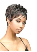 Sophisticated Short Capless Curly Wig
