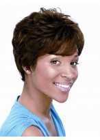 Short Wavy Synthetic African American Wig