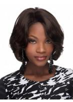 Capless Wavy Medium African American Wig