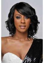 Womens Wavy Lace Front Synthetic Wig