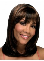 Straight Capless Synthetic Wig With Bangs