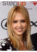 Jessica Alba Taking Straight Lace Front Wig