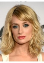 Beth Behrs Comely Lace Front Wavy Synthetic Wig