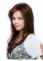 Long Straight Relaxed Layers Straight Human Hair Wig