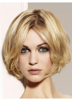 Wavy Bob Lace Wig With Curly Ends
