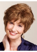 Short Curly Remy Hair Wig