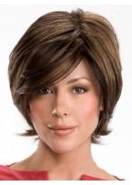 Short Wavy Real Hair Wig
