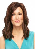 Wavy Full Lace Auburn Human Hair Wig