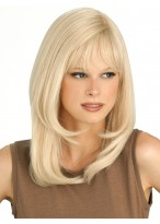 Capless Straight Human Hair Wig With Bangs