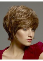 Chic Wavy Human Hair Lace Front Wig