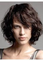 Bob Style Wavy Remy Human Hair Capless Wig
