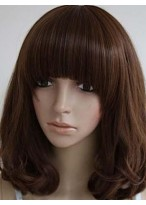 Wavy Remy Human Hair Capless Wig With Bangs