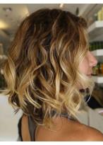 Medium Wavy Human Hair Lace Front Wig