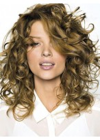 Full Curly Human Hair Lace Front Wig