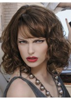 Wavy Execllent Remy Human Hair Capless Wig