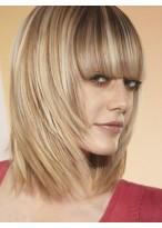 Fairness Capless Straight Remy Human Hair Wig