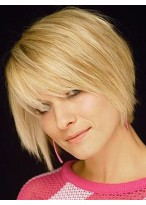 Execllent Capless Straight Remy Human Hair Wig