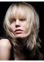 Straight Capless Medium Length Human Hair Wig