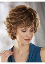 Short Layers Wave Synthetic Capless Wig