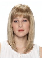 Shoulder Length Synthetic Wig with Full Bangs