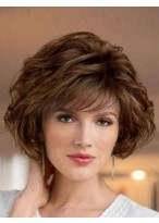 Wavy Look With Textured Synthetic Wig