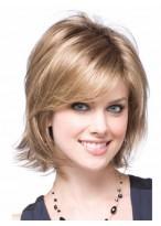 Medium Length Blonde Synthetic Wig