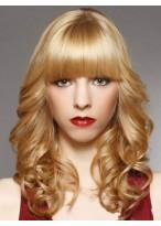 Wavy Medium Length Capless Synthetic Wig