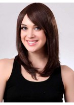 Straight Medium Length Capless Synthetic Wig Without Bangs