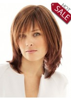 Discount Human Hair Medium Length Wig