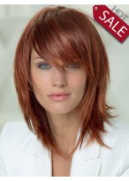 Smooth Human Hair Straight Wig