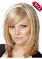 Cheap Medium Human Hair Wig