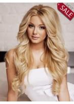 Fabulous Human Hair Long Wavy Wig