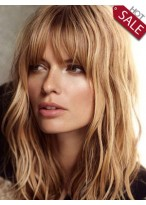 Romantic Human Hair Wavy Wig
