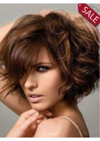 Comely Wavy Human Hair Capless Wig